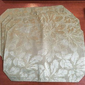 Unbranded Light Green Floral Placemats Set of 4